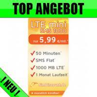 Handy Sim-Karte inkl. 1000 MB Internet Flat - Nur 5,99 Euro*/Monat