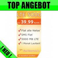 Handy-Sim-Karte inkl. ➦MEGA 5.000 MB Internet-Flat - Nur 39,99 Euro * / Monat