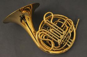 Hans Hoyer 6801 G-L Bb / F - Doppelhorn, Goldmessing, Sonderanfertigung