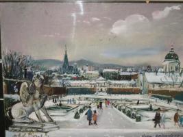 Hans Robert Pippal ''Belvedere'' 50 x 37 Cm