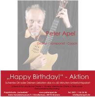 Happy Birthday Aktion 4x Unterricht Gitarre Ukulele Bass