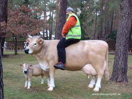 Hast Du einen Balkon und möchtest das eine Deko Kuh auf den Balkon steht … ja dann ...