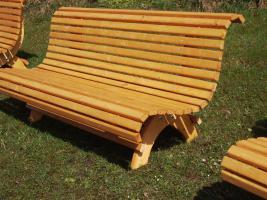 Hausbank  Gartenbank aus Fichtenholz fertig lasiert ca 1,5 m