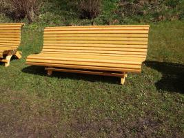 Foto 2 Hausbank  Gartenbank aus Fichtenholz fertig lasiert ca 1,5 m