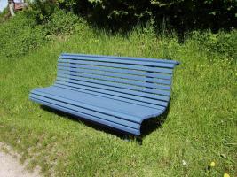 Foto 7 Hausbank  Gartenbank aus Fichtenholz fertig lasiert ca 1,5 m