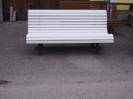 Foto 9 Hausbank  Gartenbank aus Fichtenholz fertig lasiert ca 1,5 m