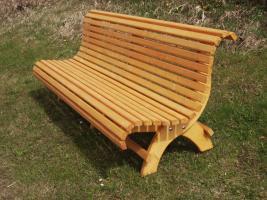 Hausbank  Gartenbank aus Fichtenholz fertig lasiert ca 2,0m