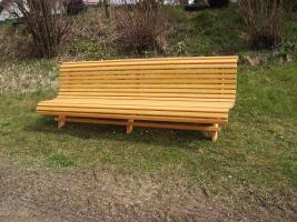 Foto 3 Hausbank  Gartenbank aus Fichtenholz fertig lasiert ca 2,0m