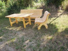 Foto 12 Hausbank  Gartenbank aus Fichtenholz fertig lasiert ca 2,0m