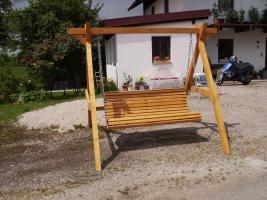 Foto 16 Hausbank  Gartenbank aus Fichtenholz fertig lasiert ca 2,0m