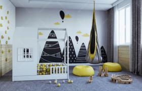 Hausbett Aster mit Barrieren Farbe