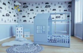 Hausbett Aster für Kinder mit barrieren Farbe