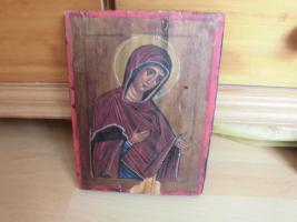 Heilige Maria, Holzgemälde;MP , öy