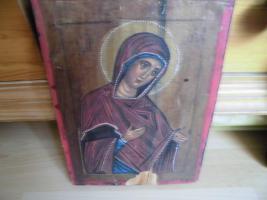 Foto 3 Heilige Maria, Holzgemälde;MP , öy