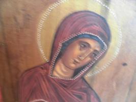 Foto 6 Heilige Maria, Holzgemälde;MP , öy