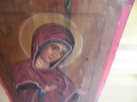 Foto 7 Heilige Maria, Holzgemälde;MP , öy