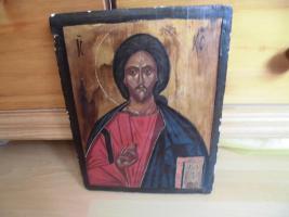 Heiliger Jesus, Bild auf Holz; IC , XC
