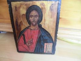 Foto 3 Heiliger Jesus, Bild auf Holz; IC , XC
