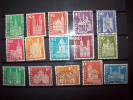 Helvetia Briefmarken - Satz