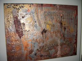 ''Herbstimpression''---Acryl Unikat auf Leinwand
