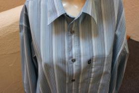 Foto 2 #Herrenhemd, Gr. XL, #blau, #Streifen, #Tom Tailor, #Markenmode