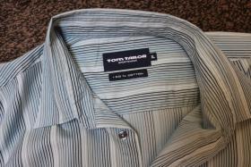 Foto 4 #Herrenhemd, Gr. XL, #blau, #Streifen, #Tom Tailor, #Markenmode