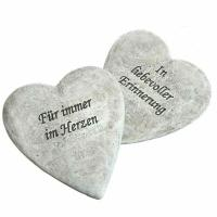 Herz Für immer im Herzen, Herz In liebevoller Erinnerung. 2 Modelle, 2 Stück