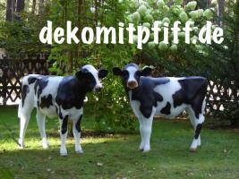 Foto 5 Hey warum stellen Sie nicht gleich drei Deko Kälbchen zu Ihre Deko Kuh in den Garten … ?