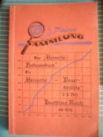 """Historische """"Universal – Dauerfehlliste Deutschland 1872 - 1947"""" (Briefmarken!) aus dem Jahre 1948"""