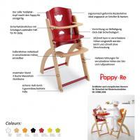 Hoch Stuhl Baby Pali Pappy-Re aus Holz mitwachsend und erweiterbar