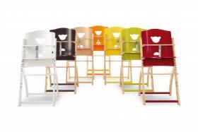Foto 2 Hoch Stuhl Baby Pali Pappy-Re aus Holz mitwachsend und erweiterbar