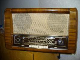 Höchstgebot ,00 € Graetz-Radio 160-Serie Spitzensuper 163 W(Tausche)  für den Sammler mit Wertsteigerung 980,00 EURO Altes Röhrenradio RARITÄT von Graetz Modell 1952 Spitzensuper 163 W