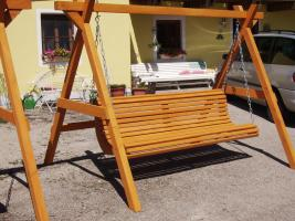 Hollywoodschaukel Gartenschaukel 3 Sitzer Massivholz