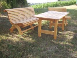 Foto 5 Hollywoodschaukel Gartenschaukel 3 Sitzer Massivholz