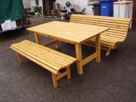 Foto 6 Hollywoodschaukel Gartenschaukel 3 Sitzer Massivholz