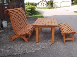 Foto 8 Hollywoodschaukel Gartenschaukel 3 Sitzer Massivholz