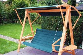 Foto 4 Hollywoodschaukel, Gartenschaukel-Holz-schaukel, Swing -NEU-von Bio-Tischler