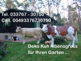 Foto 2 Holstein Deko Kuh ...