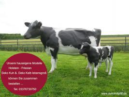 Foto 4 Holstein Deko Kuh mit Kalb …oder ...