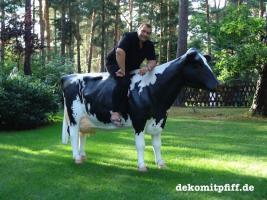 Foto 5 Holstein - Rind als Deko Kuh ...