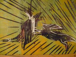 Holzdruck limitierte Auflage von Hartmann