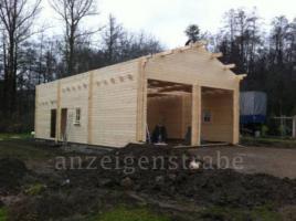 Foto 11 Holzgaragen, Blockhäuser, Gartenhäuser,  in großer Auswahl, vielen Grössen