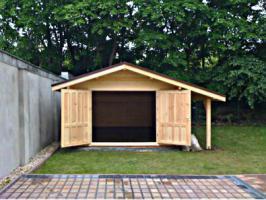 Foto 3 Holzgaragen, Blockhäuser, Gartenhäuser,  in großer Auswahl, vielen Grössen