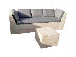 Holzsofa, Bank, Sofa aus Bauholz