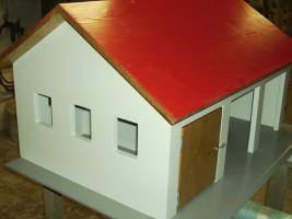Holzspielzeug Nachbau von Garagen Hallen Häusern für Kinderspielzeug