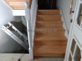 Foto 3 Holztreppe aus Polen, Trepe, Verkleidung von Betontreppe, Bolzentreppen, Treppengeländer