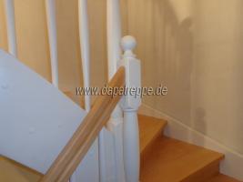 Foto 2 Holztreppen aus Polen, Treppe aus Holz, Verkleidung von Betontreppen, Treppengeländer