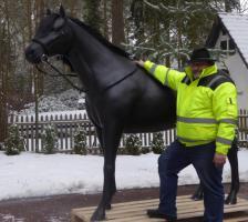 Horse - Pferd - Gartendekorationaufstellfigur oder ...