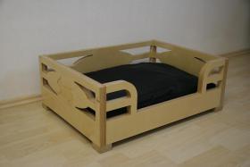Hundebett aus Multiplex-Holz Birke für Französische Bulldogge, Mops etc.