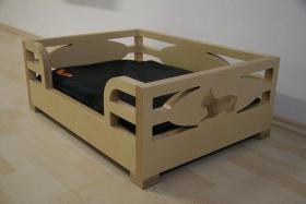 Foto 3 Hundebett aus Multiplex-Holz Birke für Französische Bulldogge, Mops etc.